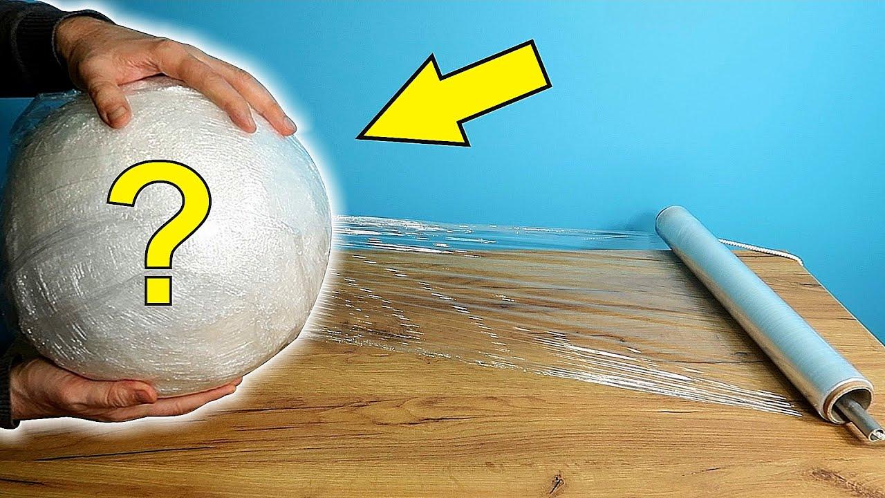 Какого размера шар получится из целого рулона стрейч пленки?