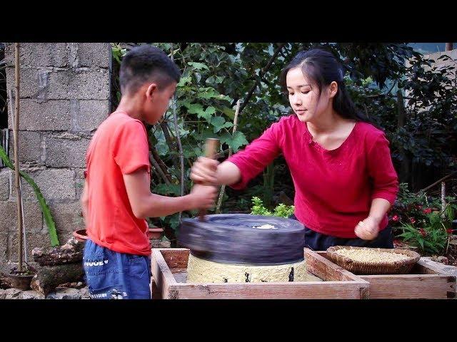 秋玉米熟了,做一碗手工玉米凉粉,再配上米醋酸甜爽口【滇西小哥】