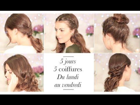 5 coiffures faciles pour chaque jour de la semaine