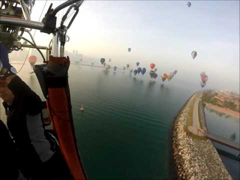 World Air Games - Hot air balloon traning flight, with Danish Team Mundtballoons