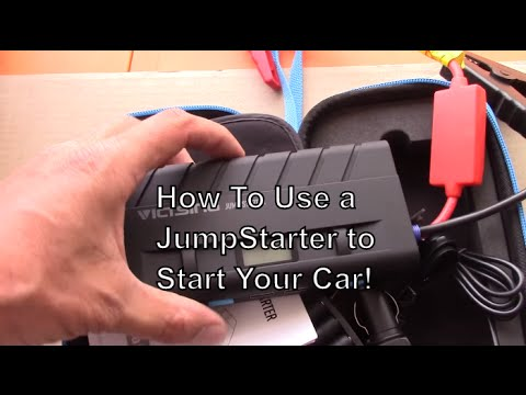how to jumpstart a car with a jump starter jump box portable battery box battery charger. Black Bedroom Furniture Sets. Home Design Ideas