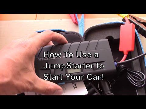 How to Jumpstart a car with a jump starter, jump box, portable