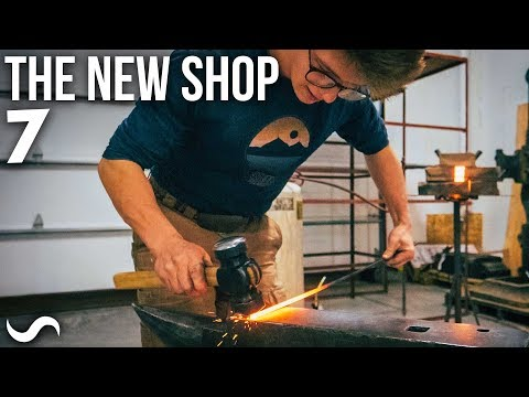 FORGING IN THE NEW SHOP!!!!