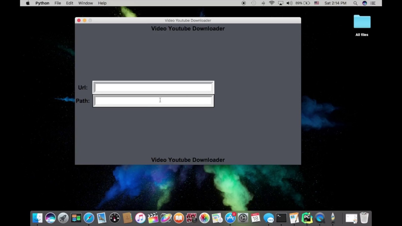 Python Video Downloader App - 6 - Buttons & Functions