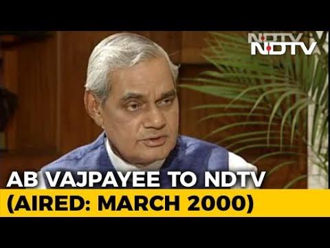 """India Has To Run On Consensus"": Atal Bihari Vajpayee On Coalition Politics (Aired: March 2000)"