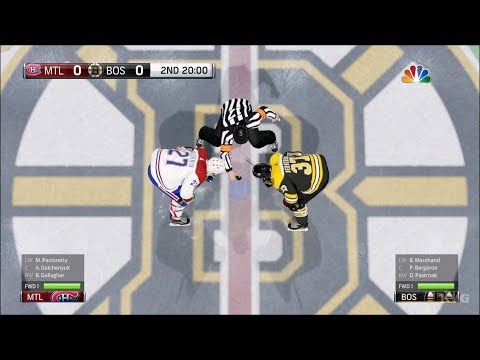 NHL 18 - Boston Bruins vs Montreal Canadiens - Gameplay (HD) [1080p60FPS]