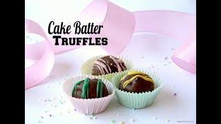 CAKE BATTER TRUFFLES RECIPE
