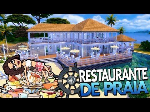 Restaurante de praia (Beach Restaurant) Collab com Hey Nati - Construção The Sims 4 - Speed Build