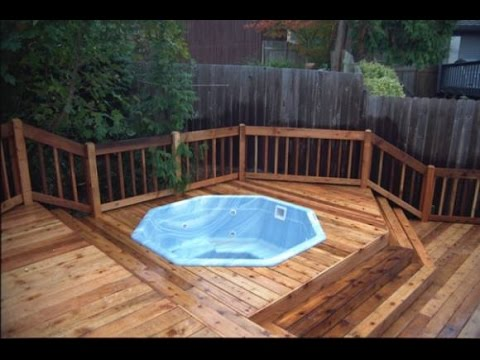 Cool Outdoor Hot Tub Deck Ideas Youtube