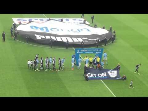 Newcastle United VS Manchester City Players Entrance - Local Hero Theme + Gloria