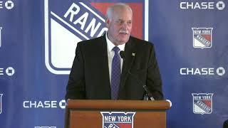 Full Press Conference: New York Rangers President John Davidson Returns Home