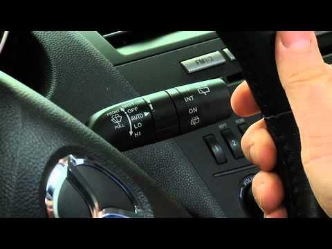 2011   2010 Mazda 3 Rain Sensing Wipers Washers Tutorial