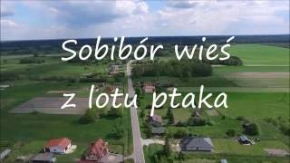 Sobibór wieś z lotu ptaka / Birds eye view of Sobibór village