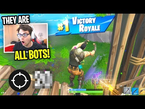 I Made A NEW ACCOUNT To Match Up With BOTS... (EASIEST Fortnite Game EVER)