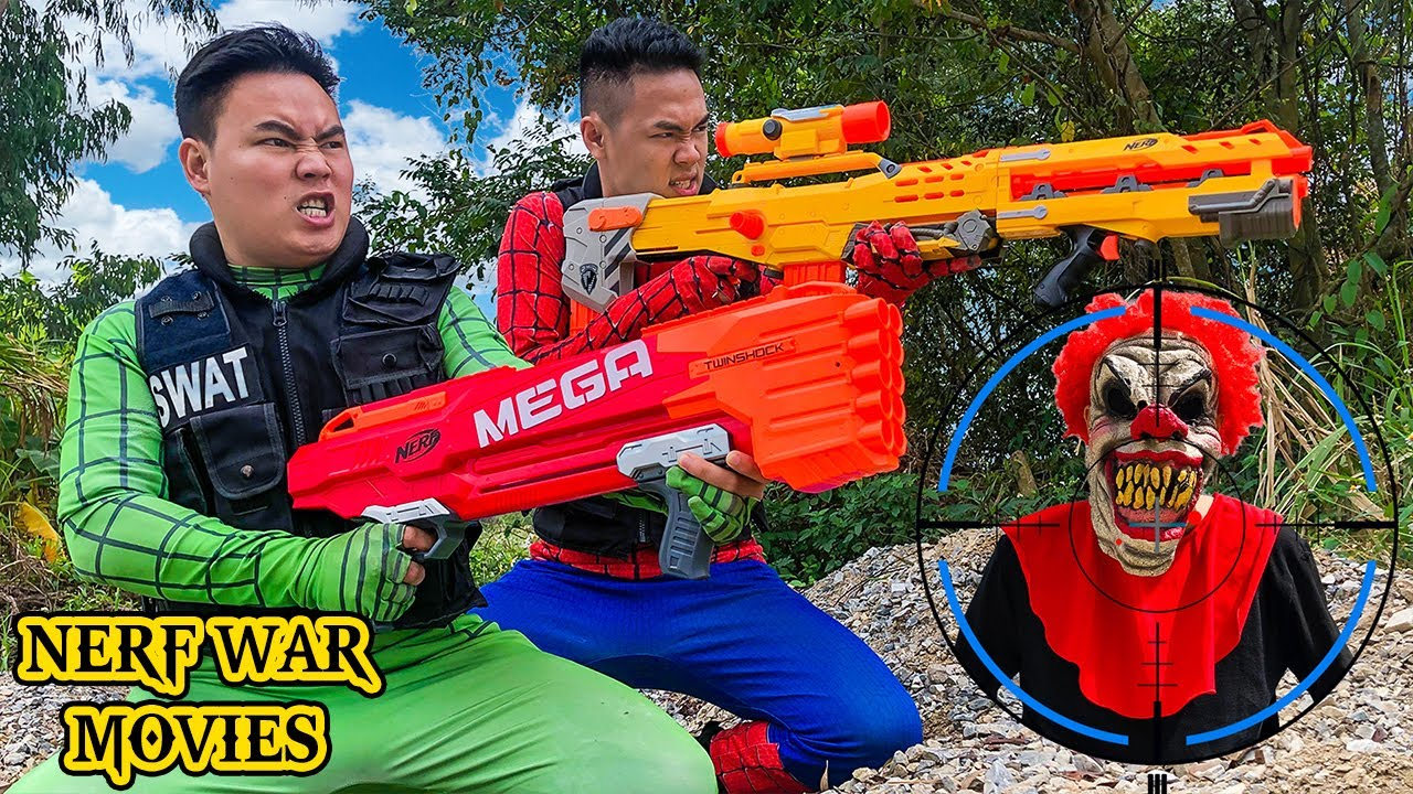 Nerf War Movies: Couple Spider X Warriors Nerf Guns Fight Criminal Group Protect The Earth