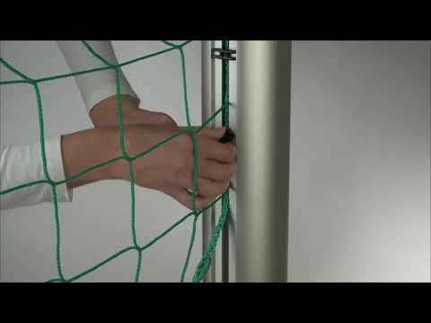 Video: Youth football goal 5x2 m, square tubing, portable with ground frame