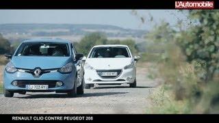 Renault Clio 4 contre Peugeot 208