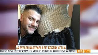 Intim családi felvételt osztott meg unokája születéséről a 44 éves Kökény Attila