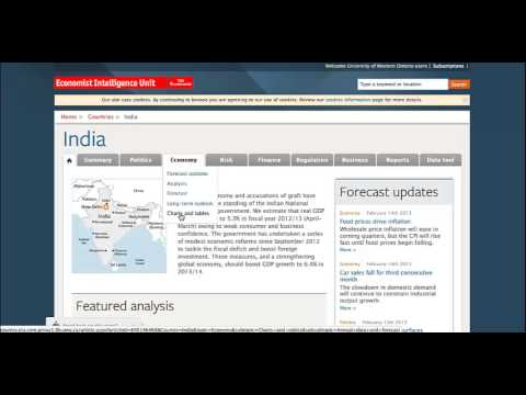 Finding country info on Economist Intelligence Unit