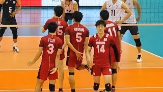 Yuki Ishikawa, Yuji Nishida, Japan vs South Korea 2018 International friendly match 3rd set