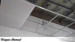 Drop Ceiling or suspended Aluminium ceiling Installation and overview