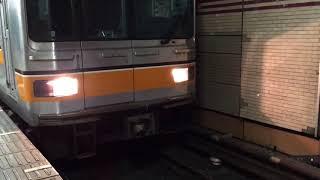 銀座線01系 渋谷行き 三越前  入線〜発車(乗降促進音あり)