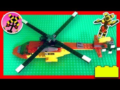 ふみっきーくんがレゴのヘリコプターをつくるよ♪【Railroad crossing animation】