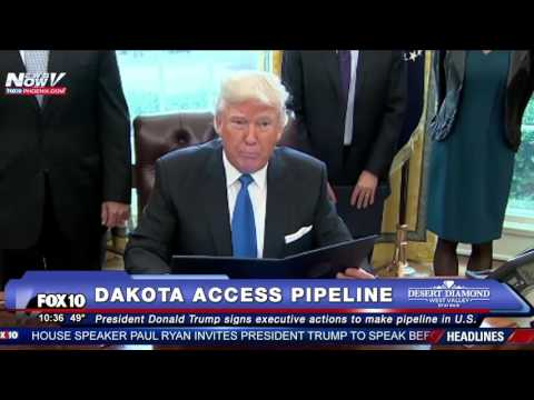 FNN: Donald Trump Signs Executive Orders to Advance Approval of Dakota Access Pipeline