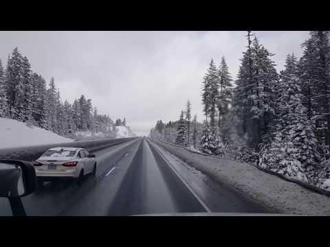 BigRigTravels La Grande to Deadman Pass, Oregon Interstate 84 West-Feb. 15, 2018