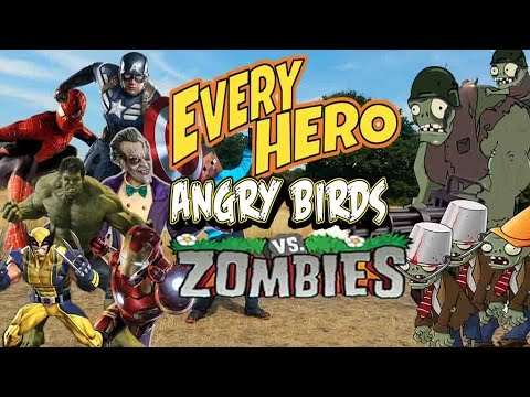 Real Life Super Heros And Angry Birds vs Zombies