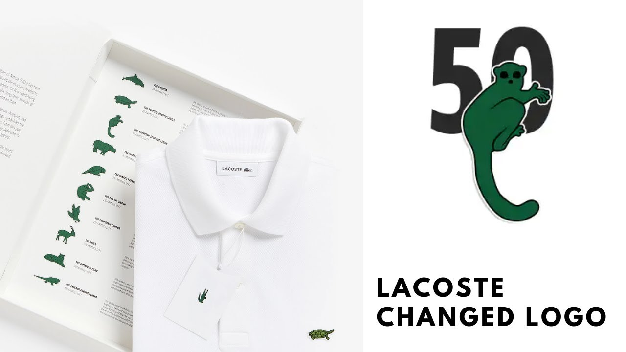 Lacoste leaves its logo to save endangered species