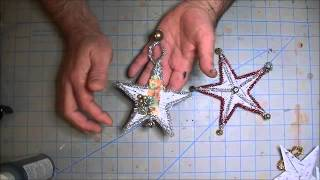 5 Point Origami Star Snowflake Ornament