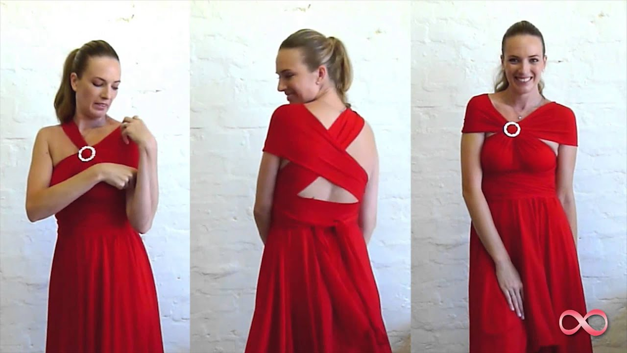 How To Wrap The Infinity Dress South Africa Youtube