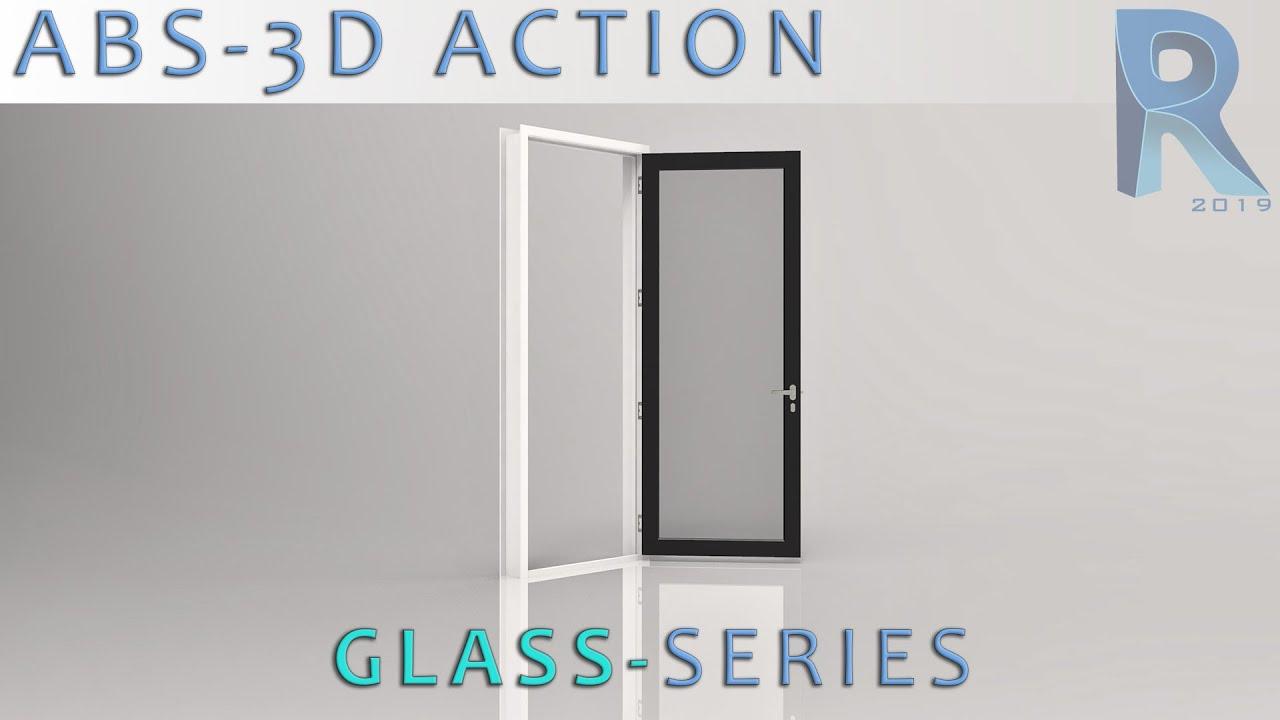 Glass folding door revit window family corner window revit sliding - Revit Parametric Glass Door X 1