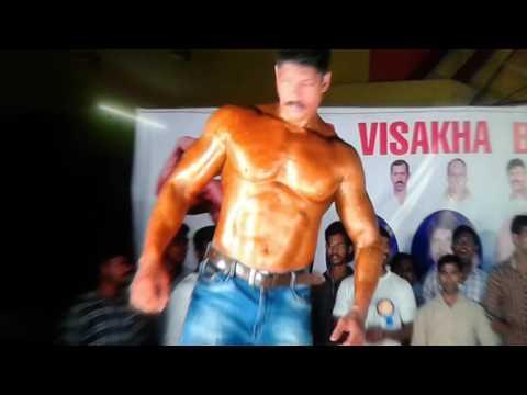 Shaik srinu cine artist body building show
