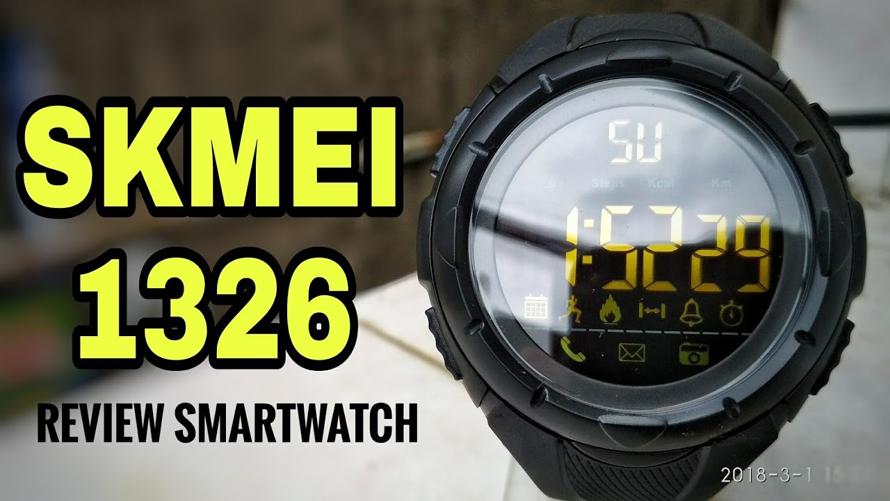Skmei 1326 Smartwatch Unboxing Review Setup Indonesia Youtube Jam Tangan Pria Digital 1316 Black Water Resistant 50m