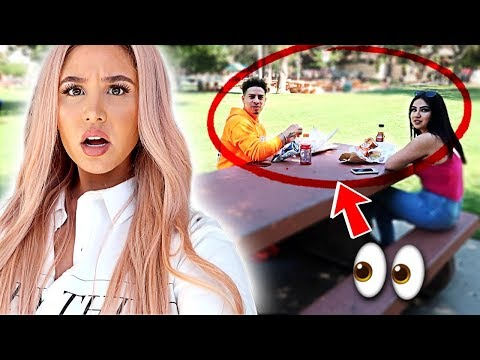 SPYING ON MY HUSBAND IN PUBLIC **GONE COMPLETELY WRONG**