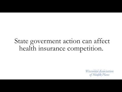 State government action can affect health insurance competition.