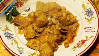 35 - Stufato di carciofi e baccelli..in forma e più belli! (contorno o secondo piatto vegano facile)