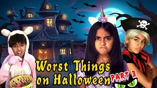 Worst Things Halloween Part 3 - Funny Skits // GEM Sisters