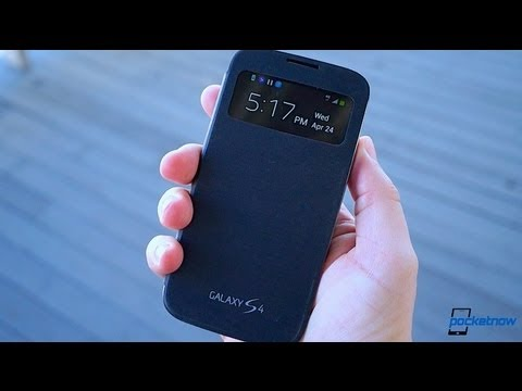 Galaxy S 4: Samsung S View Cover Review   Pocketnow