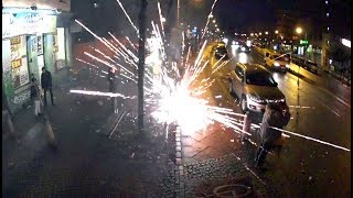 Krasses schönes Silvesterfeuerwerk Nr. 1 2018 Knaller Raketen Berlin Feuerwerksvitrine