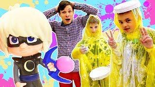 Видео для детей. Веселые игры: #ТойМастер Федор, Лунная Девочка и СЛАДКАЯ БИТВА! Кидаемся тортами! 🍰