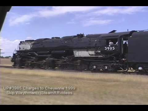Union Pacific 3985 Catches FIRE on 1999 excursion