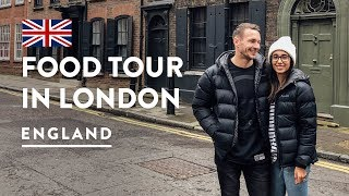 8 MUST TRY BRITISH MEALS! EATING LONDON FOOD TOUR | England Travel Food Vlog 150, 2018