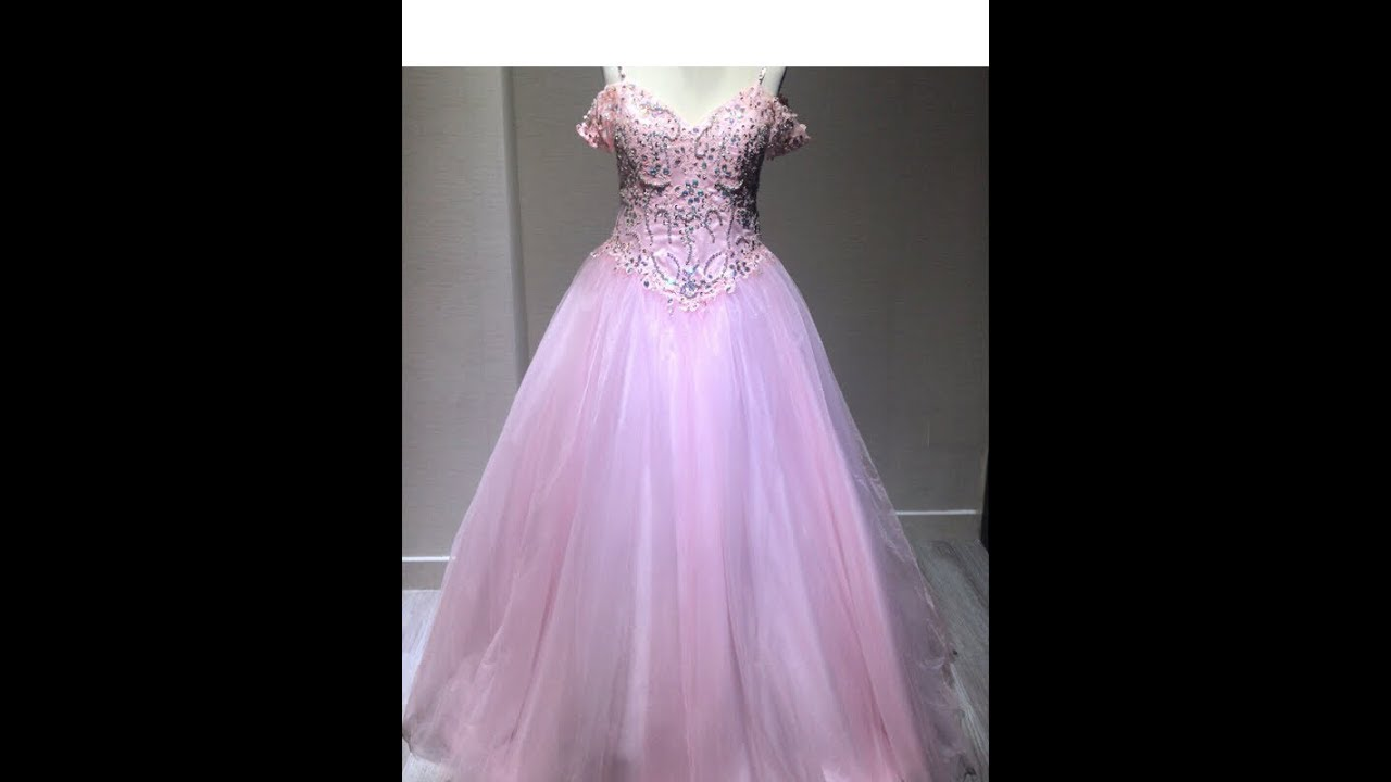 2018 Long Pink Ball Gown Tulle Prom Dress With Spaghetti