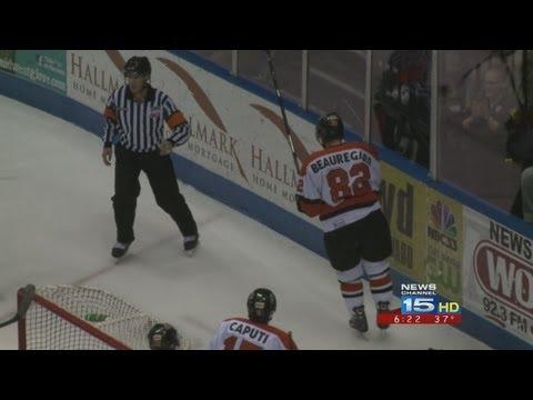 Komets forward Thomas Beauregard placed on 21-day IR, Corey Elkins called up to AHL