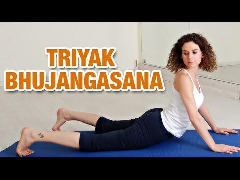 tiryaka bhujangasana  twisting cobra pose  yoga for