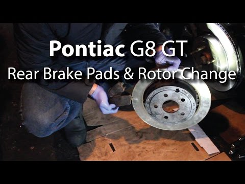 Pontiac G8 GT: Rear Brake Pads & Rotor Change (Step-By-Step) Easy!