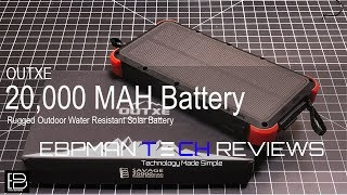 20,000 MAH Rugged Water Resistant Solar Battery Backup Review